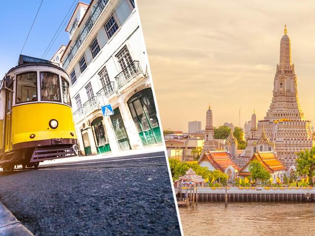 2 em 1 Europa e Ásia! Passagens para Portugal mais Tailândia, Indonésia ou China a partir de R$ 3.256!