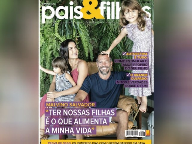 Kyra Gracie, Malvino Salvador e filhas são capa de revista sobre família