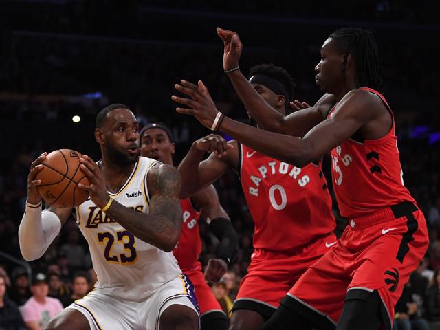 Raptors vencem Lakers de LeBron e sobem para segundo na Leste
