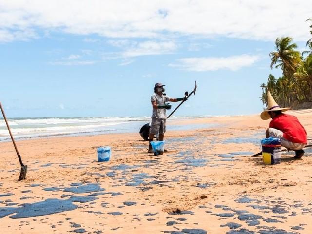 Entenda como é feita a limpeza do óleo cru que tomou o litoral do Nordeste