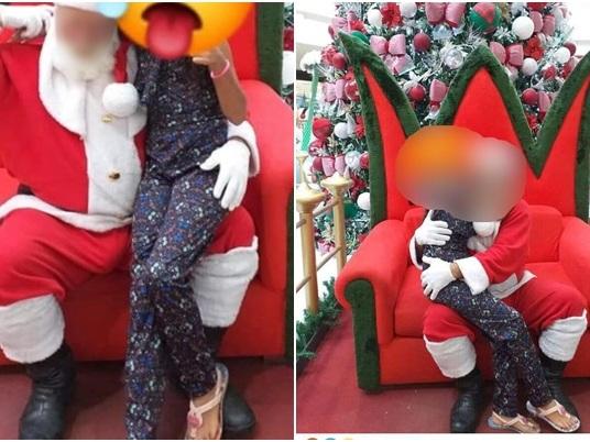 """Papai Noel de shopping se defende de acusação: """"doença nos testículos"""""""