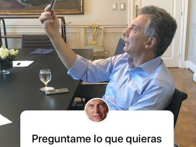 Em entrevista em rede social, Macri pede que argentinos parem de pensar em dólares