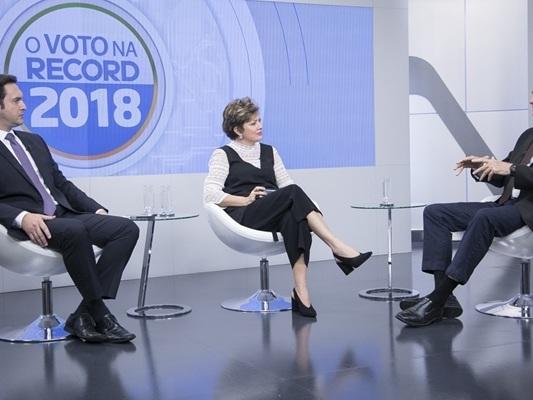 Sabatina da Record com presidenciáveis estreia com boa audiência e vence o SBT