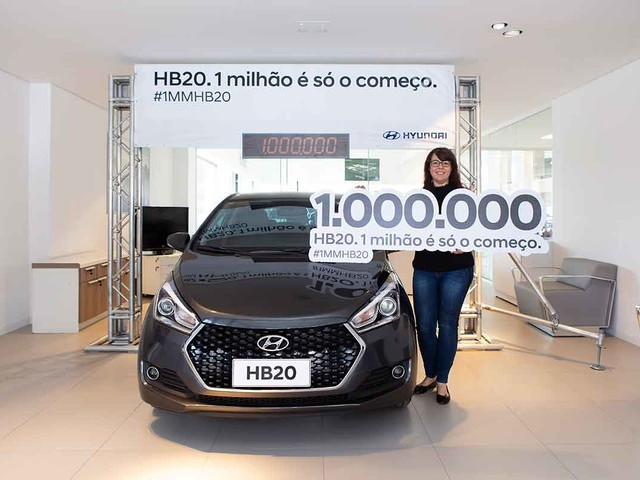 Hyundai HB20 comemora 1 milhão de unidades vendidas