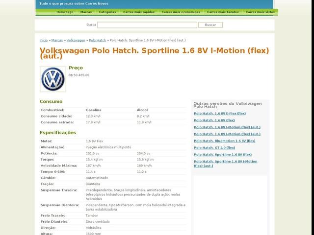 Volkswagen Polo Hatch. Sportline 1.6 8V I-Motion (flex) (aut.)
