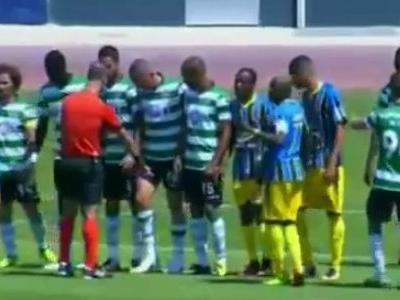 Árbitro é ríspido com jogador do Sporting B e causa polêmica em Portugal