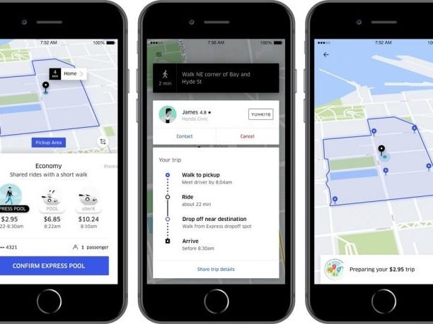 Uber cria serviço mais barato em que o usuário vai até um ponto para embarcar
