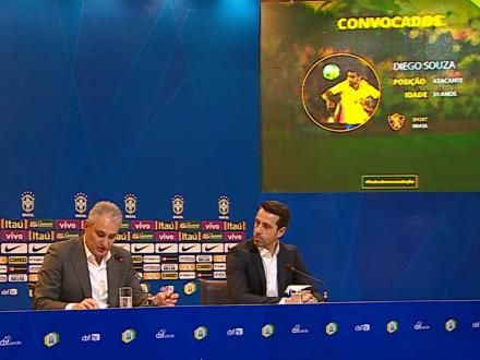 Diego Souza é convocado para o 5º jogo seguido da Seleção. É a chance do 87…