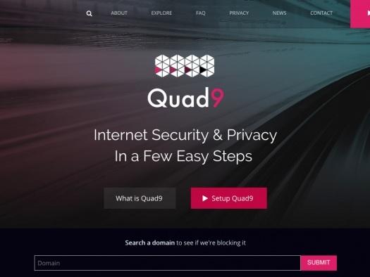 Quad9 é um serviço de DNS da IBM que bloqueia domínios maliciosos