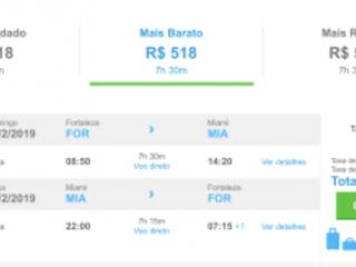Sensacional! Passagens para Miami por R$ 517 ida e volta, saindo de Fortaleza!
