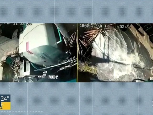 Caminhão-pipa tomba e perde toda a água na Baixada Fluminense