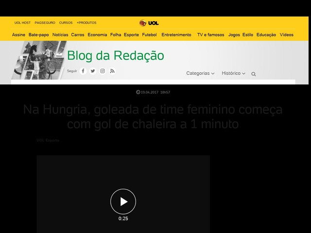 Na Hungria, goleada de time feminino começa com gol de chaleira a 1 minuto