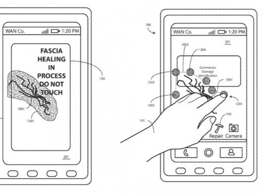 """Motorola patenteia tela de smartphone que se """"conserta"""" com a ajuda do calor"""