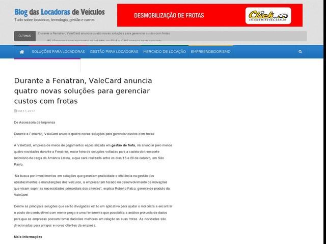 Durante a Fenatran, ValeCard anuncia quatro novas soluções para gerenciar custos com frotas