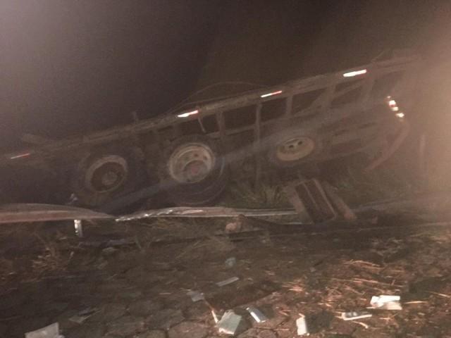 Caminhão carregado de bois tomba e 35 animais morrem na LMG-788