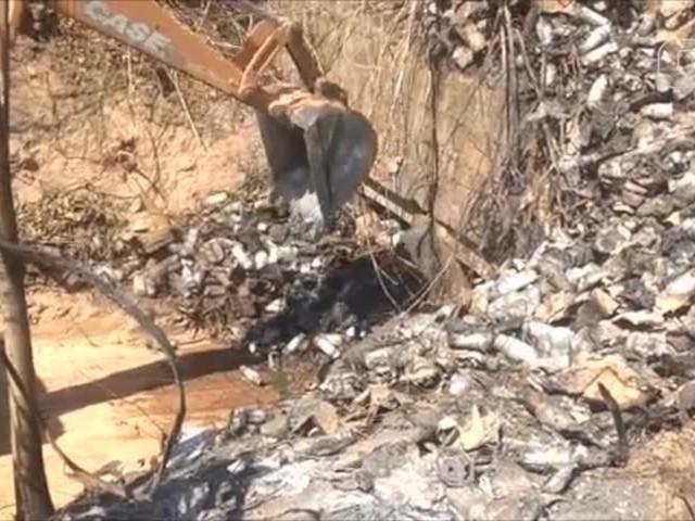Semar fiscaliza retirada de 60 toneladas de solo contaminado por produto químico na BR-135