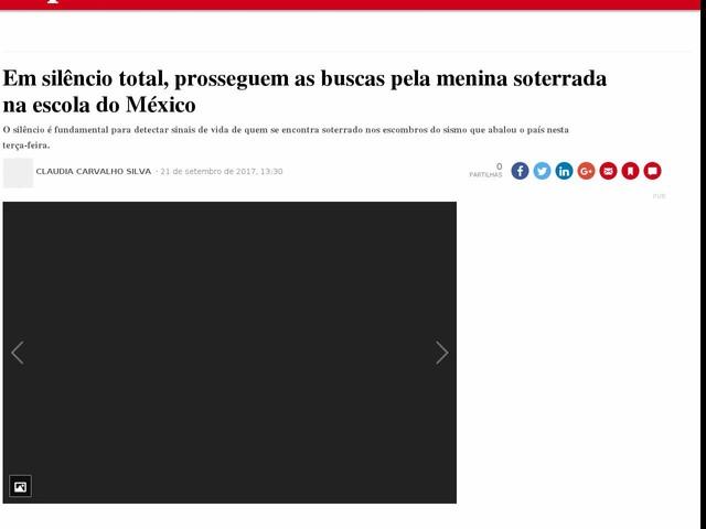 Em silêncio total, prosseguem as buscas pela menina soterrada na escola do México
