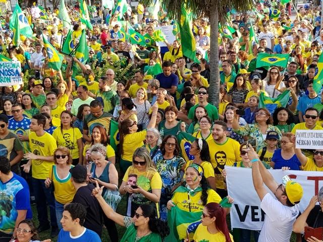 Fortaleza tem ato em favor da Operação Lava Jato e contra o STF