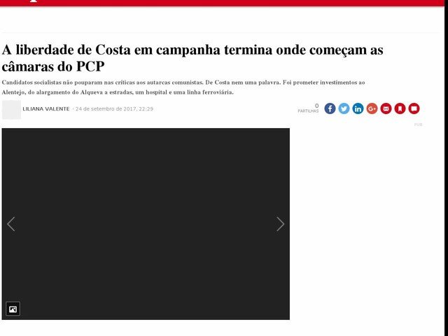 A liberdade de Costa em campanha termina onde começam as câmaras do PCP