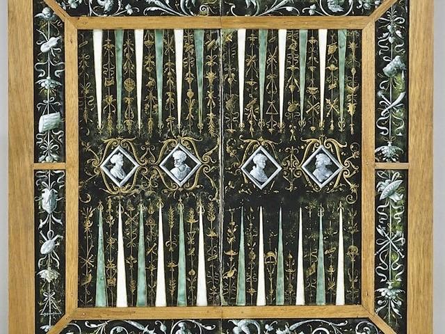 Esmerado: Tabuleiro de xadrez e gamão, 1537