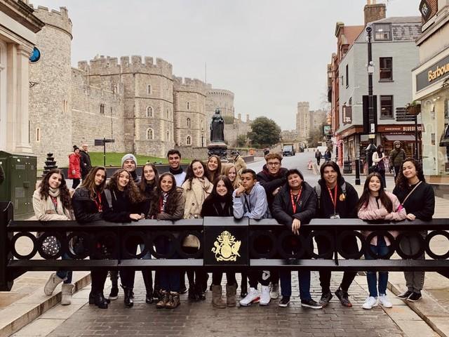 Visitando a rainha em Windsor