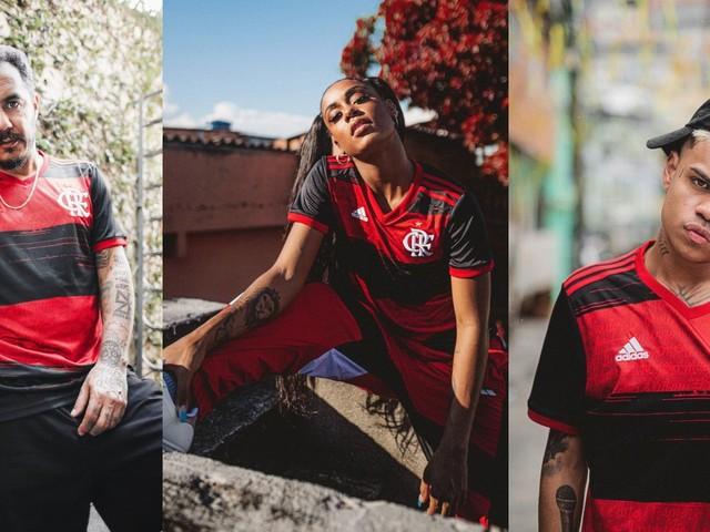 Em ação da Adidas, MC Rebecca, Marcelo D2 e MC Cabelinho apresentam novas versões do hino do Flamengo
