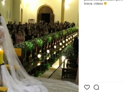 Follmann se casa em Chapecó pouco menos de um ano após acidente de avião
