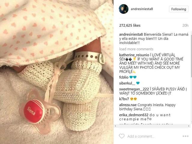 """Andrés Iniesta é pai pela terceira vez: """"Um dia inesquecível"""""""