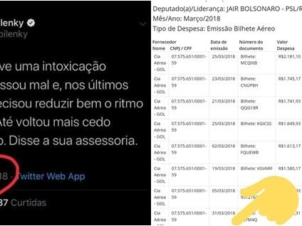 Mensagem lança dúvidas sobre paradeiro de Bolsonaro no dia da morte de Marielle