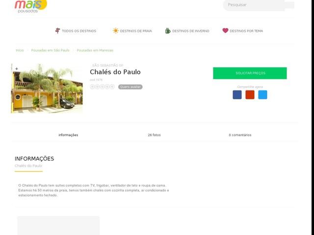Chalés do Paulo - Maresias - SP