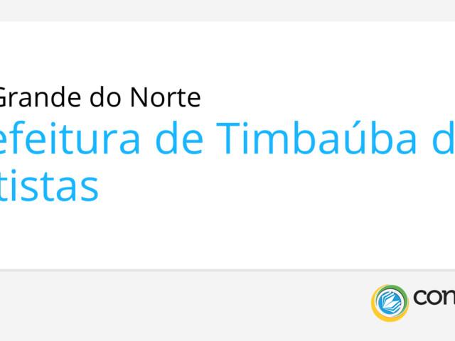 Prefeitura de Timbaúba dos Batistas - RN promove seletivo
