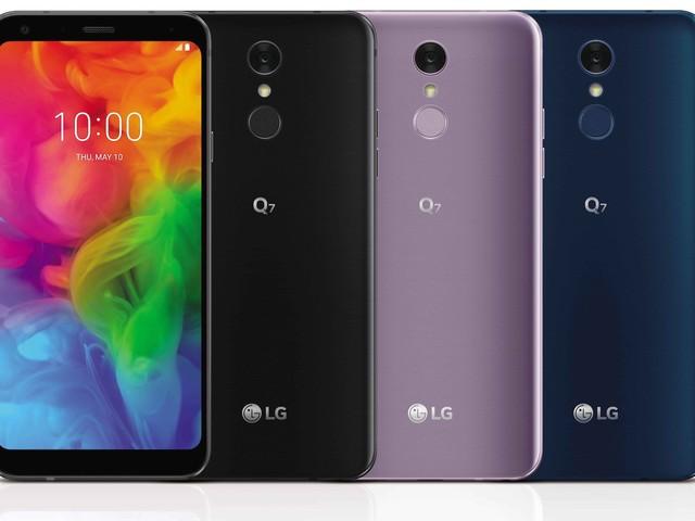 LG anuncia Q7 para competir com Moto G6 e Galaxy J6