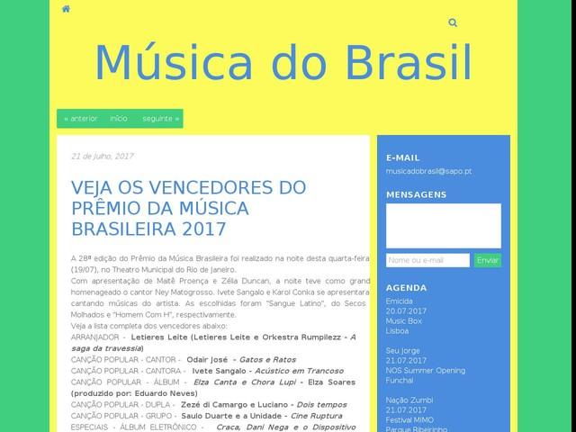 VEJA OS VENCEDORES DO PRÊMIO DA MÚSICA BRASILEIRA 2017