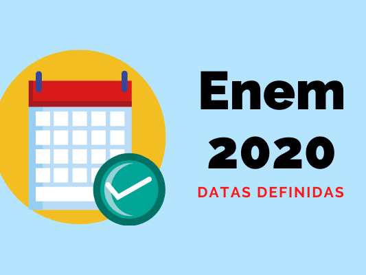 Inep define datas para provas do Enem 2020
