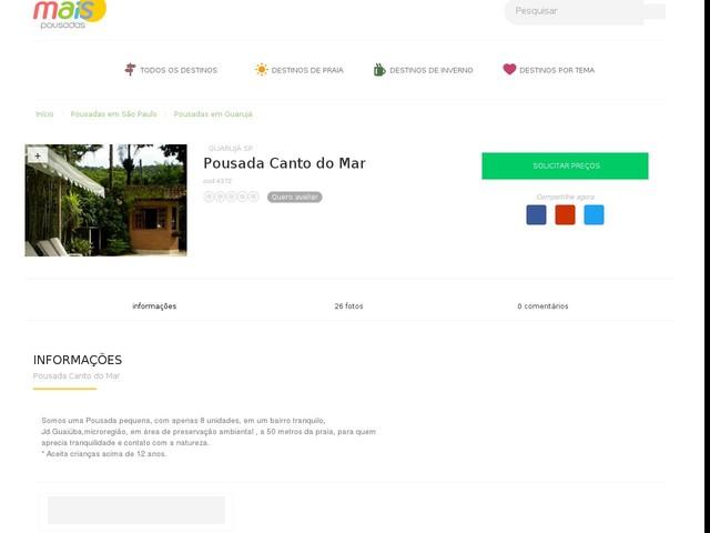 Pousada Canto do Mar - Guarujá - SP