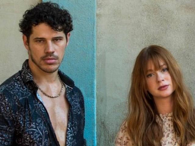 José Loreto e Marina Ruy Barbosa têm conversa séria em bastidores e ele vai à festa de novela