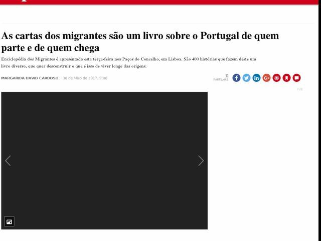 As cartas dos migrantes são um livro sobre o Portugal de quem parte e de quem chega