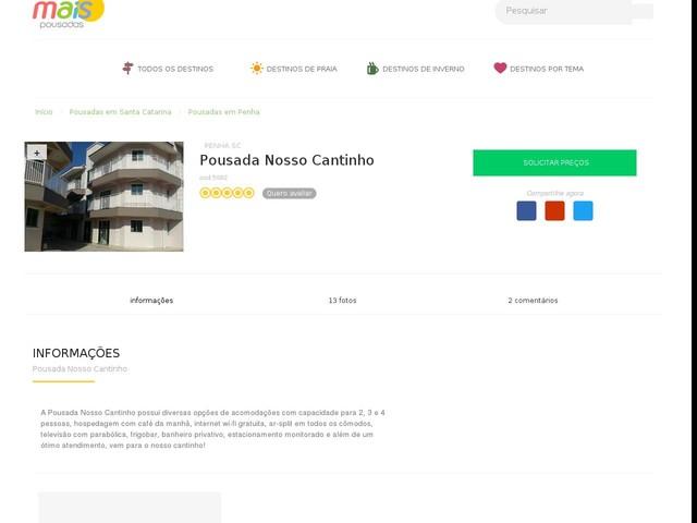 Pousada Nosso Cantinho - Penha - SC