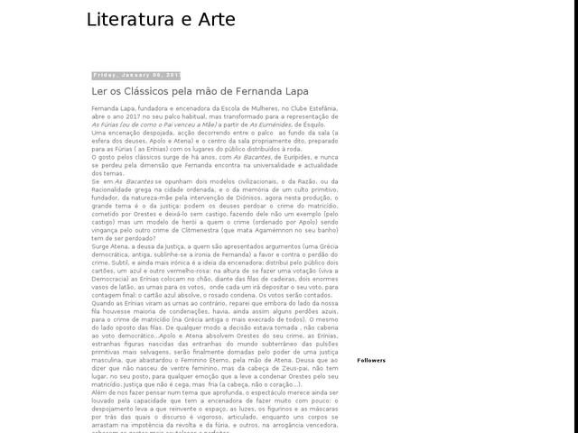 Ler os Clássicos pela mão de Fernanda Lapa