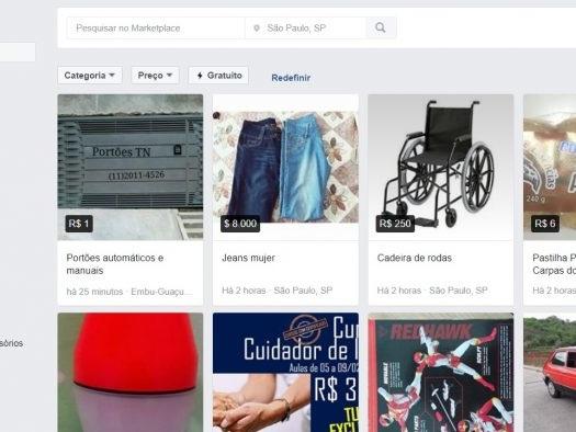Facebook Marketplace permite comprar e vender produtos no Brasil