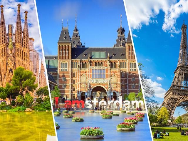 Europa 3×1! Passagens para Barcelona ou Madri mais Paris e Amsterdã na mesma viagem a partir de R$ 2.602!
