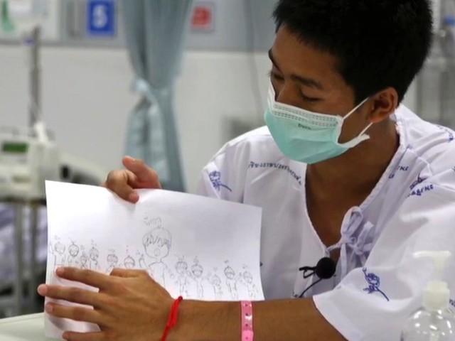 Governo da Tailândia divulga novas imagens de jovens resgatados em caverna