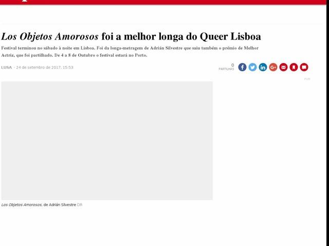 <i>Los Objetos Amorosos</i> foi a melhor longa do Queer Lisboa