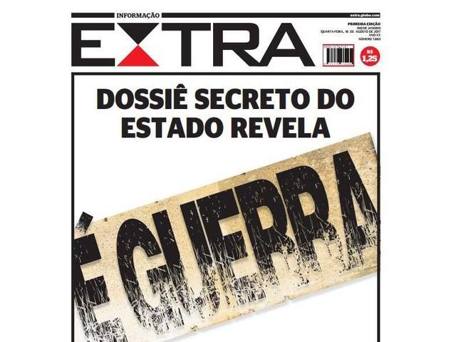 Jornal Extra cria editoria de guerra para tratar da violência no Rio de Janeiro