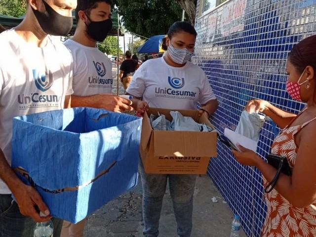 Estudantes e professores de Teresina recolhem lixo dos candidatos porEnemlimpo