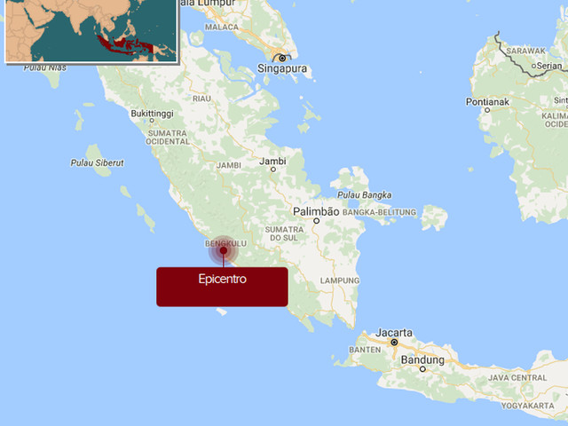 Terremoto de 6,4 graus de magnitude atinge a Indonésia