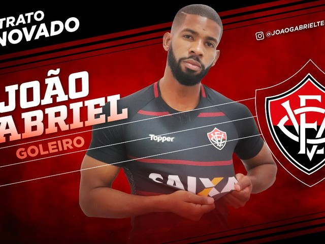 Vitória anuncia renovação com o goleiro João Gabriel