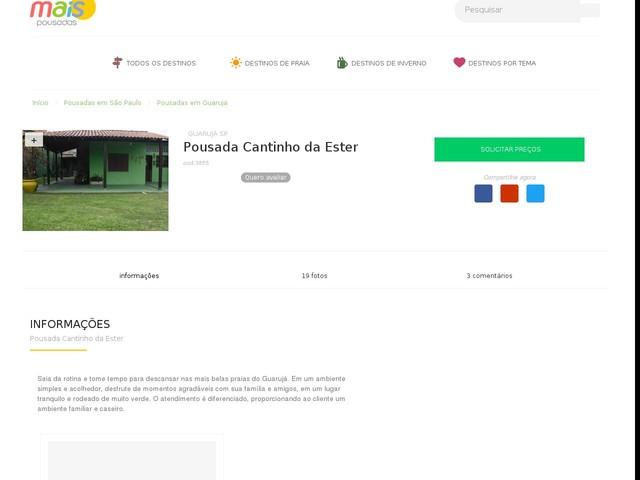 Pousada Cantinho da Ester - Guarujá - SP