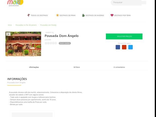 Pousada Dom Ângelo - Paraty - RJ