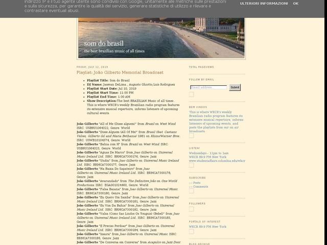 Playlist: João Gilberto Memorial Broadcast